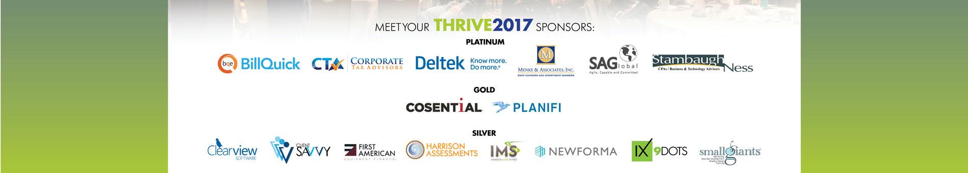 THRIVE 2017 Sponsors